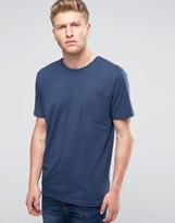 Ringspun Angled Pocket T-shirt In Navy