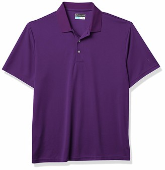 PGA TOUR Men's Big-Tall Golf Airflux Solid Short Sleeve Polo Shirt