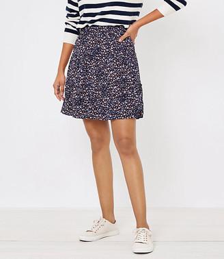 LOFT Petite Floral Tiered Skirt