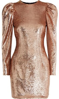 Alexandre Vauthier Gathered Sequined Mesh Mini Dress