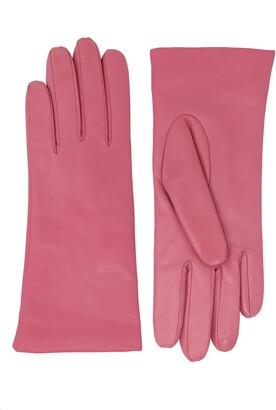 NICOLETTA ROSI Women's Cashmere Lined Lambskin Leather Gloves