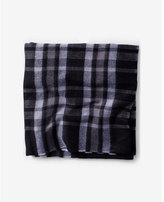 Express woven plaid scarf