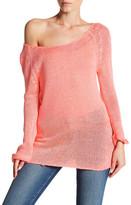 Blu Pepper Long Raglan Sleeve Rib Knit Sweater