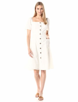 ASTR the Label Women's Ramona Sleeve Button Down FIT & Flare Short Dress