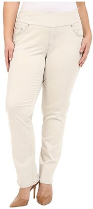 Jag Jeans Peri Pull-On Straight Leg Pants in Bay Twill (Stone) Women's Clothing