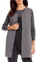 Eileen Fisher 2-Way Zip Round Neck Vest