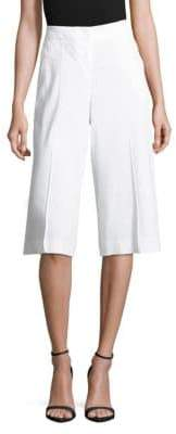 Lafayette 148 New York Kenmare Solid Banded-Waist Culotte