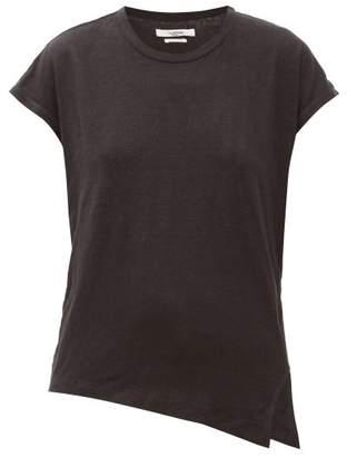 Etoile Isabel Marant Kella Linen-jersey T-shirt - Womens - Black