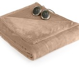 Slumber Rest Velvet Plush Heated Twin Blanket by Sunbeam