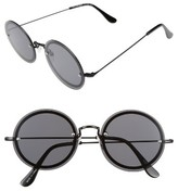 A. J. Morgan Women's A.j. Morgan 56Mm Rimless Round Sunglasses - Black