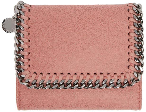 Stella McCartney Pink Falabella Small Flap Wallet