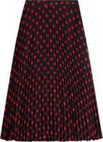 McQ Pleated Print Skirt