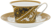 Versace I Love Baroque Low Cup & Saucer - Set of 6 - White