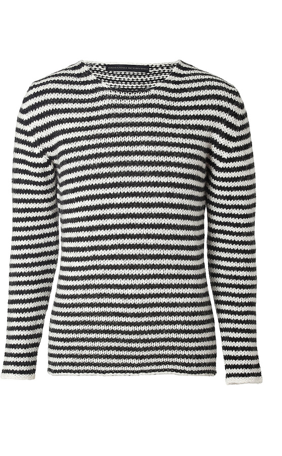 Ermanno Scervino Wool-Alpaca Blend Striped Pullover