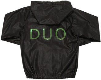 Duo Faux Leather Hooded Jacket