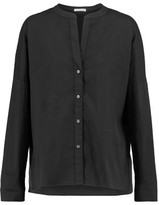 James Perse Cotton-Blend Crepe Blouse