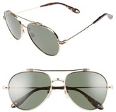 Givenchy Women's 58Mm Aviator Sunglasses - Gold