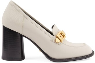 Gucci Women's mid-heel loafer with chain