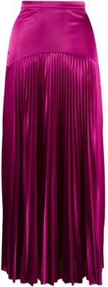 Christopher Kane Long Satin Pleated Skirt