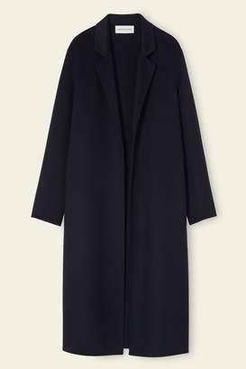 Mansur Gavriel Cashmere Narrow Buttonless Coat - Blu