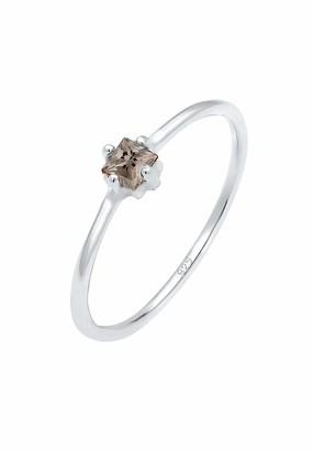 Elli Women's 925 Sterling Silver Solitaire Anniversary Ring P 0602360718_56