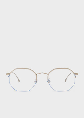 Paul Smith Matte Silver 'Brompton' Spectacles