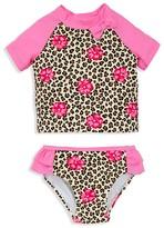 Little Me Infant Girls' Leopard Print Rash Guard Two Piece Swimsuit - Sizes 6-24 Months