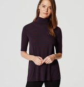 LOFT Striped Turtleneck Swing Tee
