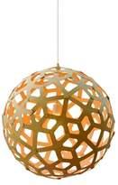 David Trubridge Coral Pendant - 15.5 in diameter / Caramel Outside / Caramel Inside