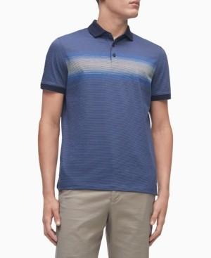 Calvin Klein Men's Liquid Touch Gradient Stripe Polo Shirt