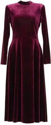 Anna Etter Midi Velvet Marsala Euphemie Dress