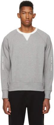Rag & Bone Grey and White Anson Sweatshirt