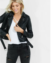 Express Minus the) leather moto jacket