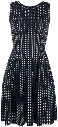 Valenti Antonino knitted geometric pattern dress