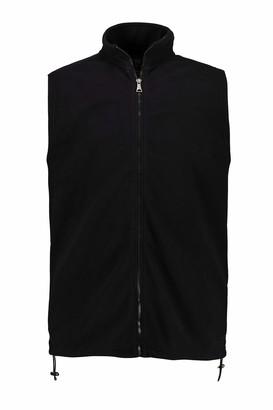 JP 1880 Men's Big & Tall Fleece Vest Black XXXXX-Large 723305 10-5XL