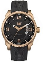 Caterpillar CAT WATCHES Men's 'Mossville Multi' Quartz Stainless Steel and Silicone Casual Watch, Color:Black (Model: AC19121129)