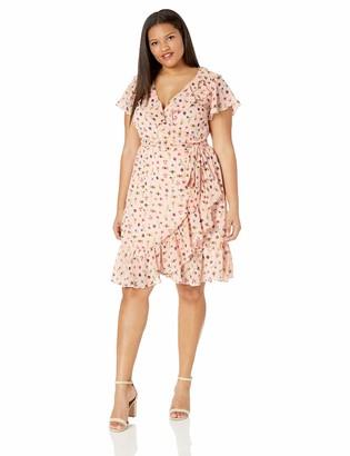 Betsey Johnson Women's Plus Size Bug Garden Wrap Dress