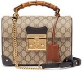 Gucci Padlock Gg Supreme Bamboo Handbag - Womens - Grey Multi