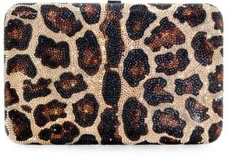 Judith Leiber Leopard Print Clutch Bag