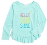 Toddler Girl's Truly Me Hello Sunshine Tee