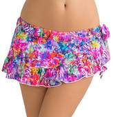 Smart & Sexy Smart+Sexy Women's Ruffled Side-Tie Bikini Bottom Skirt