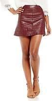 Jolt Faux Leather Quilted Mini Skirt