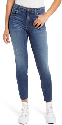 STS Blue Ellie High Rise Raw Hem Skinny Ankle Jeans