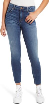 STS Blue Ellie High Waist Raw Hem Skinny Jeans