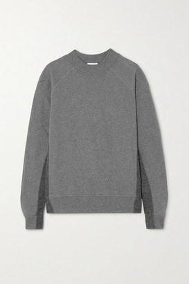 Vaara Rumer Paneled Organic Cotton-jersey Sweatshirt - Gray