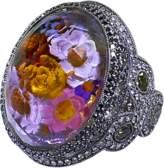 Sevan Biçakci Carved Flower Garden Ring
