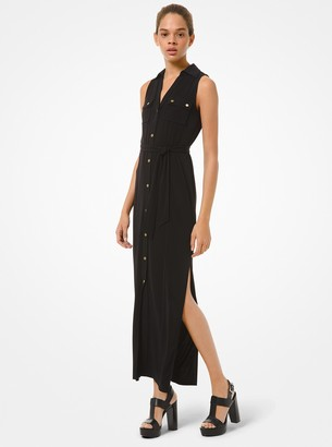 MICHAEL Michael Kors Matte Jersey Belted Dress