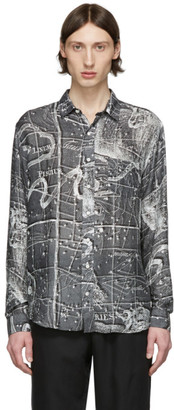 Schnaydermans Black and White Silk Zodiac Shirt