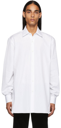 Dries Van Noten White Cotton Poplin Shirt