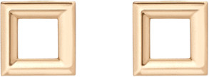 AUrate New York Solid Square Stud Earrings